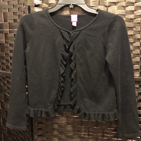Girls Black Cropped Sweater